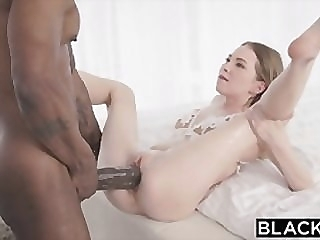 BLACKED Petite blonde with the biggest bbc in the world big dick blowjob riding