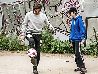 Tomboy Playing Soccer with My Hard Cock amateur blowjob cumshot