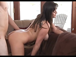 Beautiful mom with very nice body & guy brunette milf mature