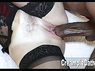 MILF Takes Massive BBC amateur top rated creampie