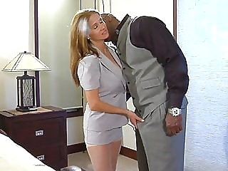 Sexy blonde and brown blonde blowjob interracial