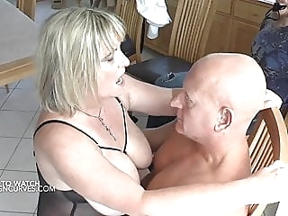 Made to watch his wife being fucked bbw mature milf